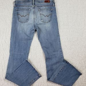 AG The Angel Distressed Boot Cut Jeans